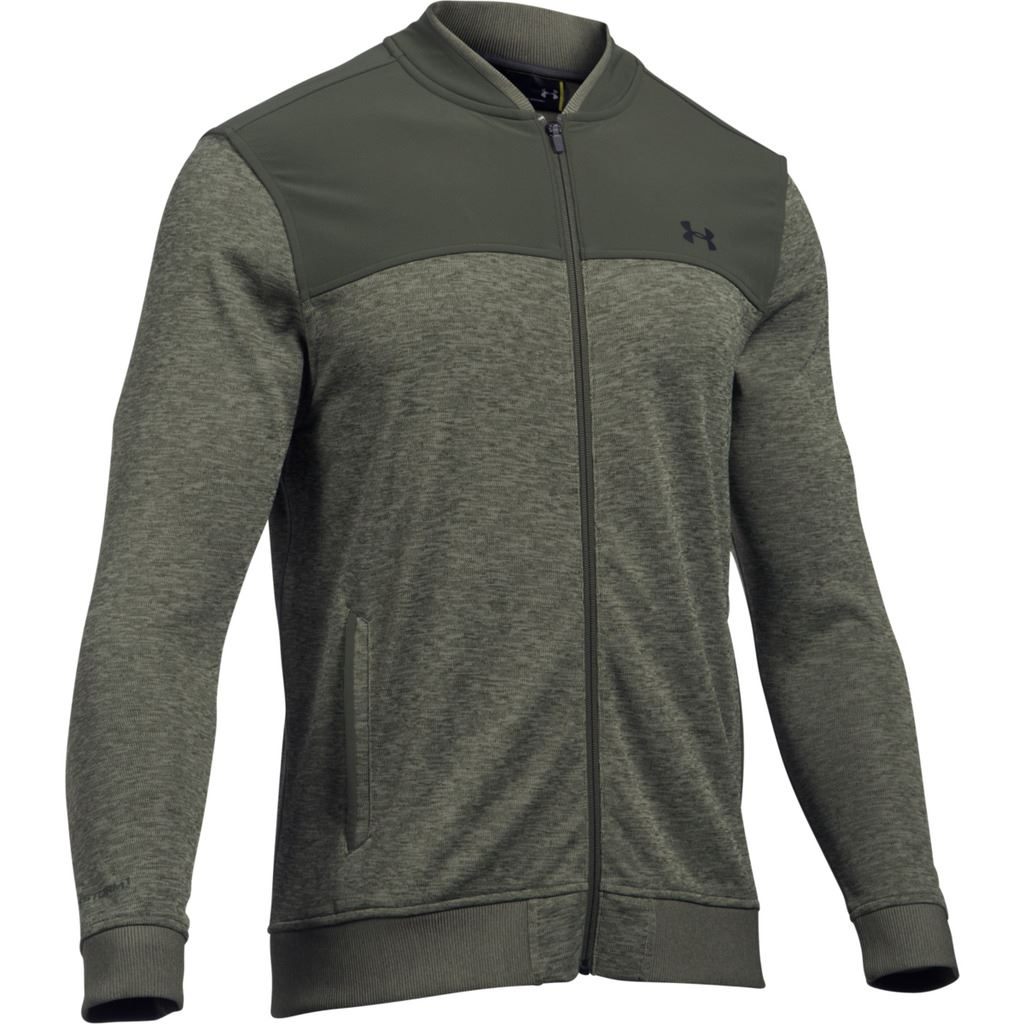 Under armour 2017 mens ua storm sweater fleece lightweight for Flannel shirt under sweater
