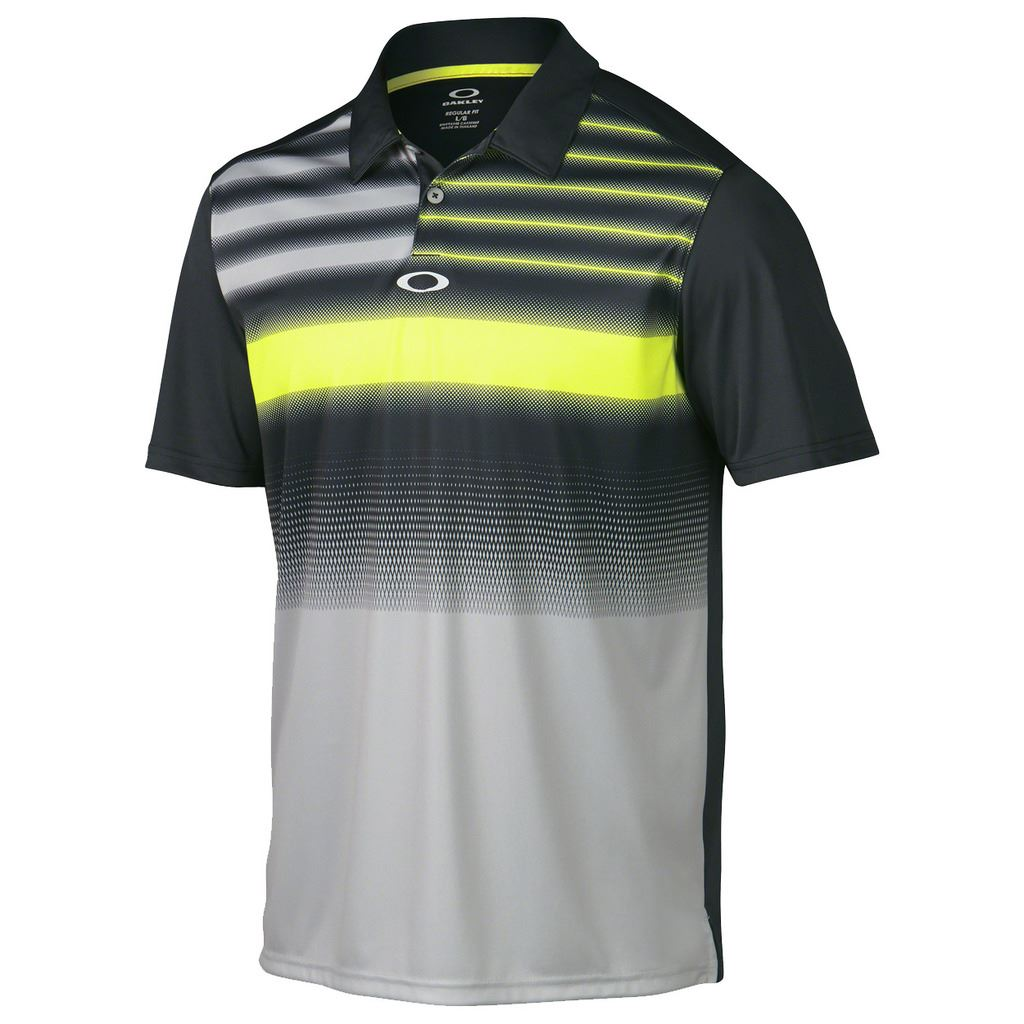 2015 oakley russell funky print mens performance golf polo for Mens golf polo shirts