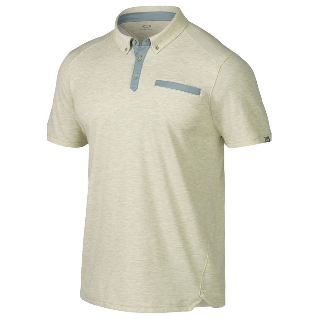 white oakley golf shirt