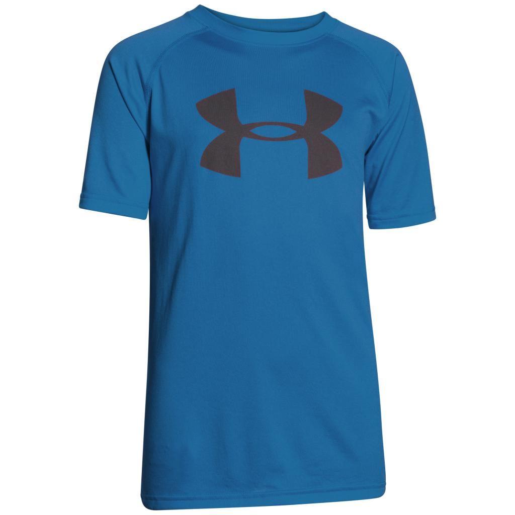 2015 under armour boys heatgear tech big logo short sleeve for Under armour heatgear tech short sleeve t shirt