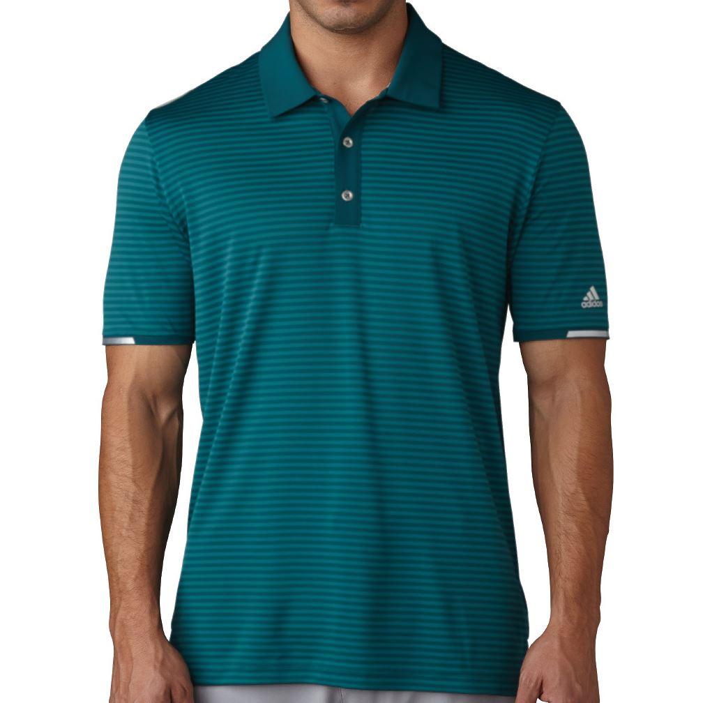 Adidas golf 2017 climachill tonal stripe polo mens for Men s performance polo shirts