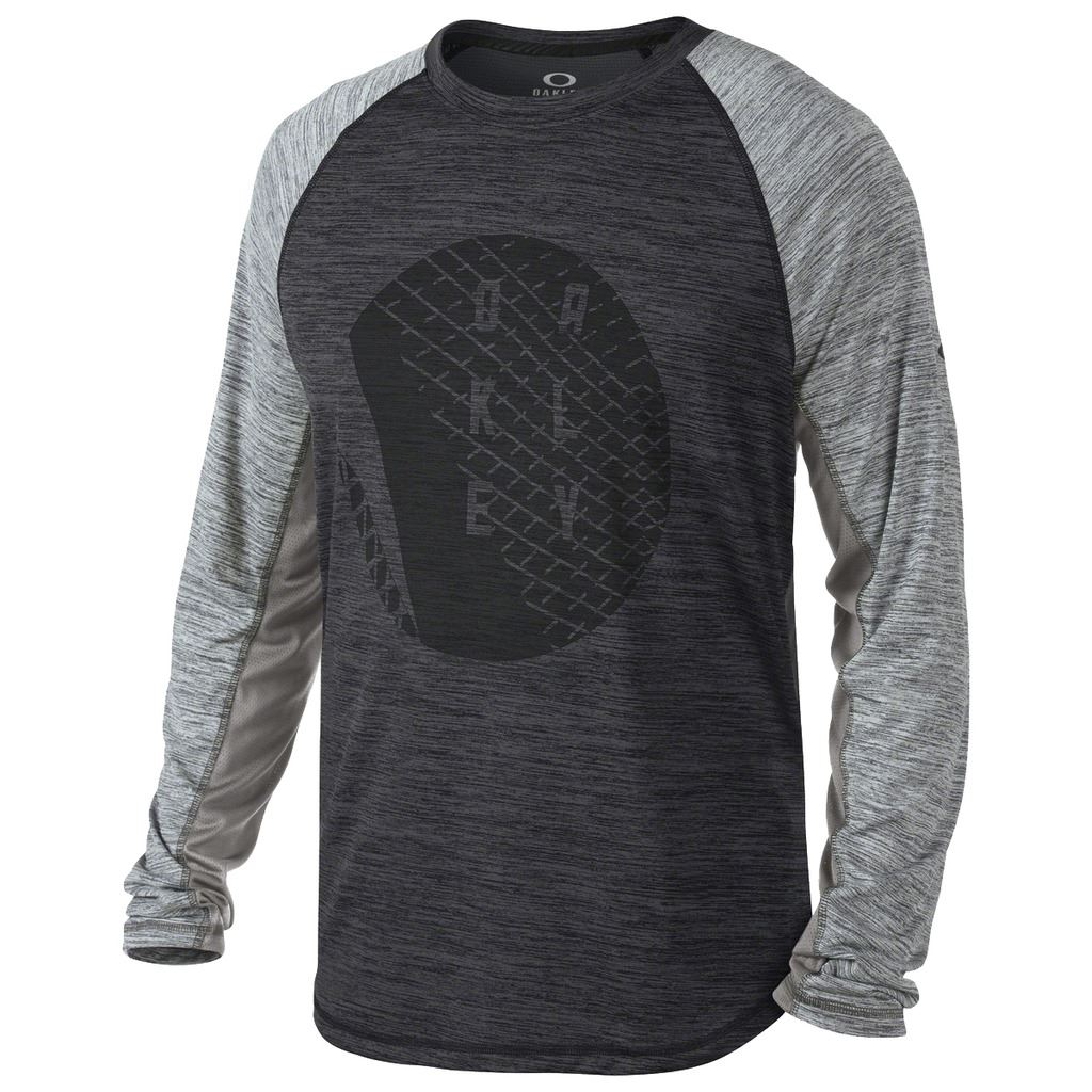 54 off oakley next graphic top mens fitness long sleeve for Long sleeve sports shirt