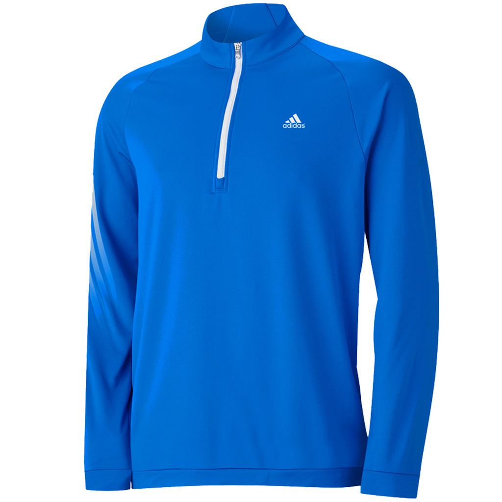 sale adidas golf 3 stripes half zip pullover top mens