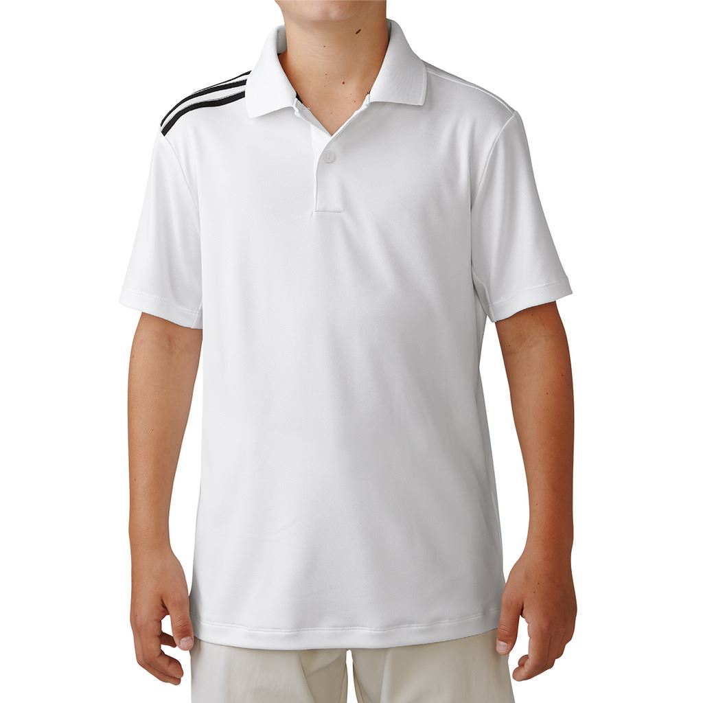 40 off rrp junior adidas climacool 3 stripes kids for Youth performance polo shirts