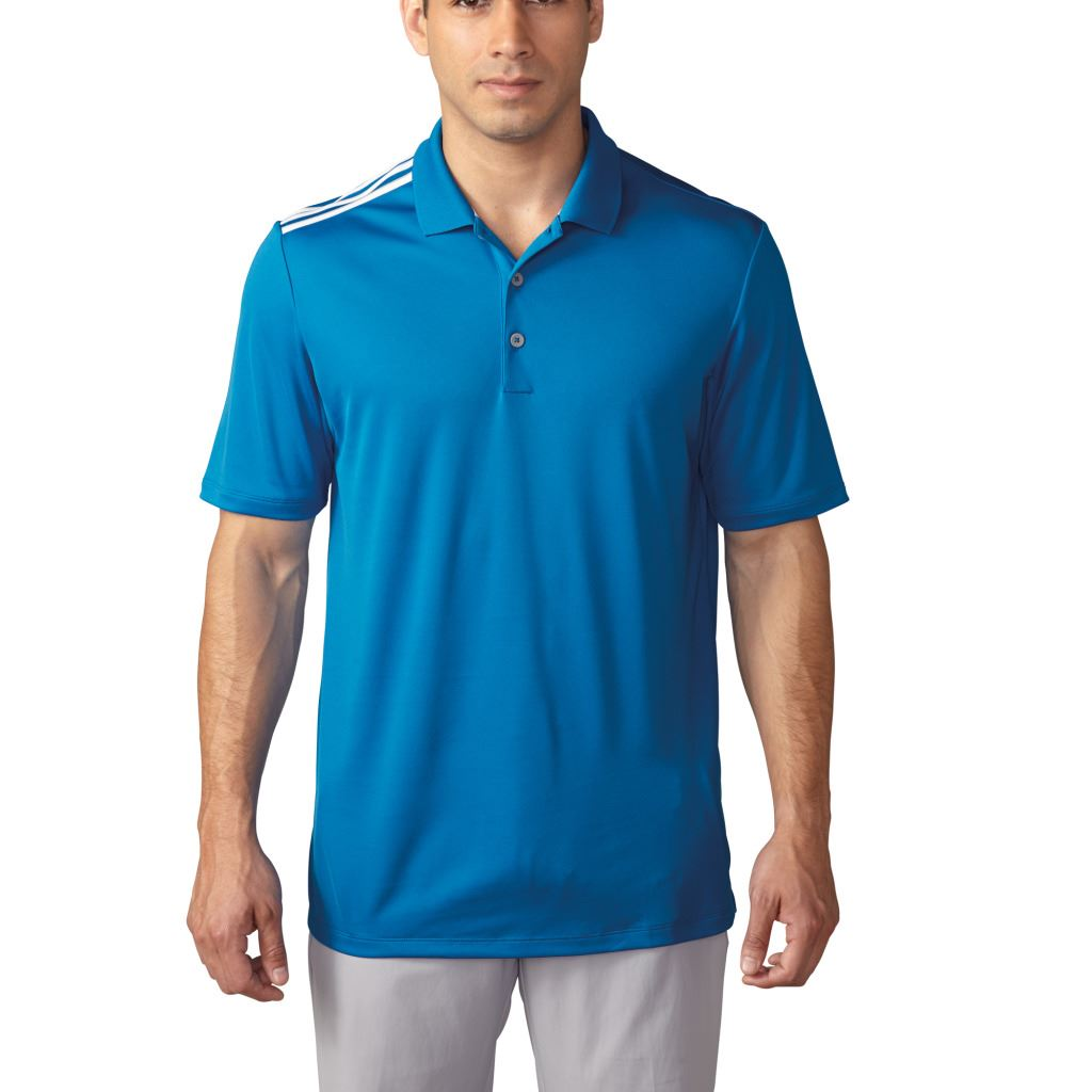 Adidas golf 2016 climacool 3 stripes shoulder performance for Mens golf polo shirts