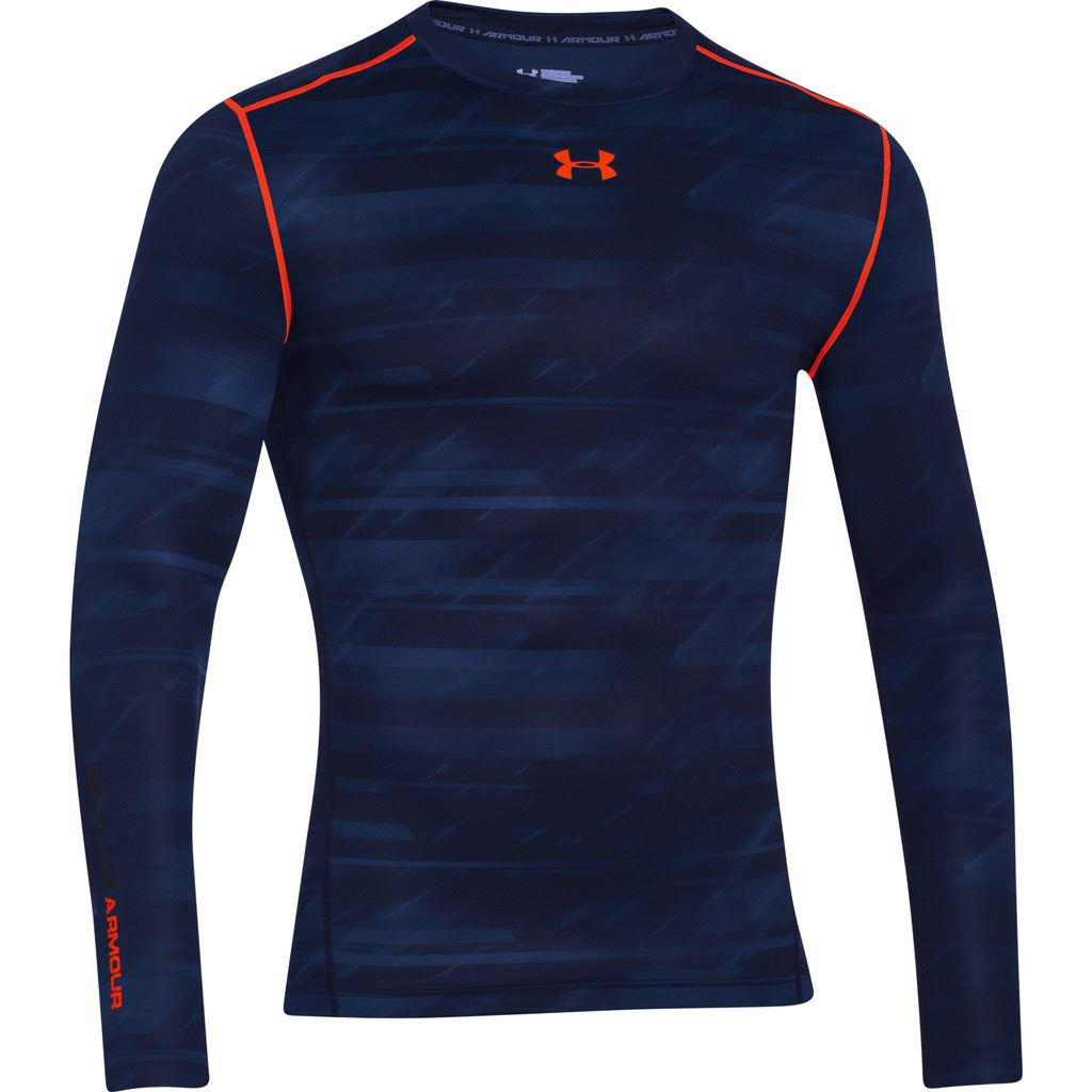 Under armour 2016 mens coldgear printed compression crew for Printed under armour shirts