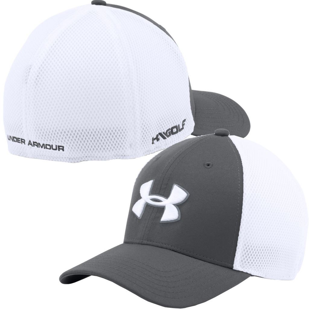 under armour hats. under-armour-2016-golf-mesh-stretch-fit-2- under armour hats