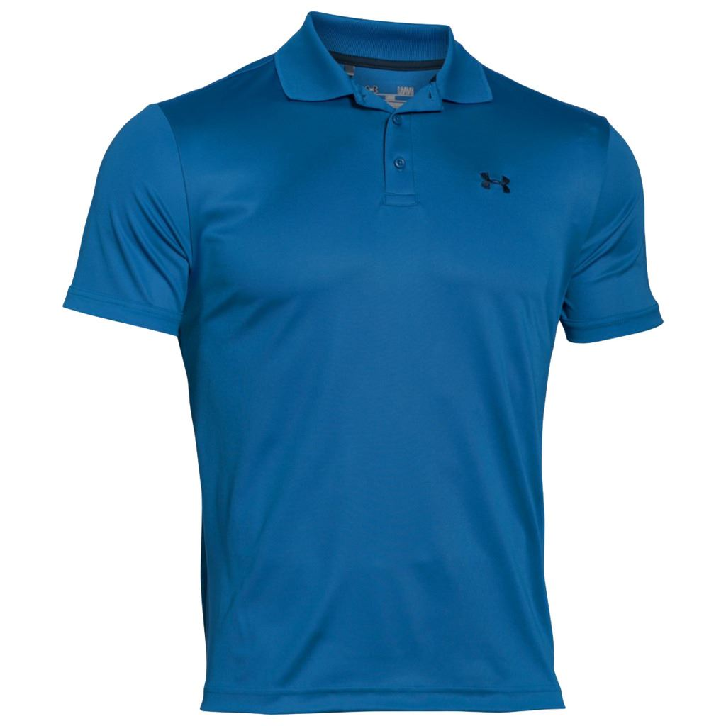 Under armour ua 2016 mens heatgear performance 2 0 golf for Mens golf polo shirts