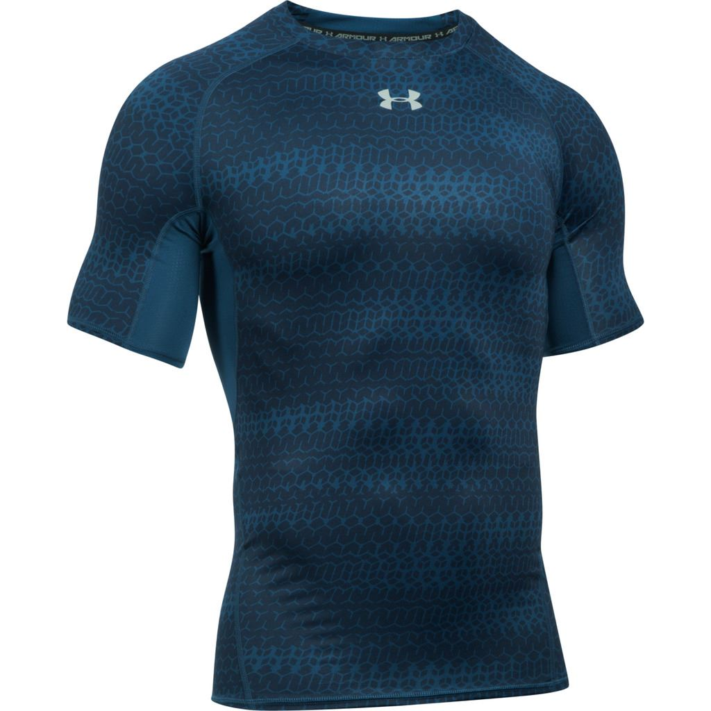 Under armour 2017 mens ua heatgear armour printed short for Printed short sleeve shirts