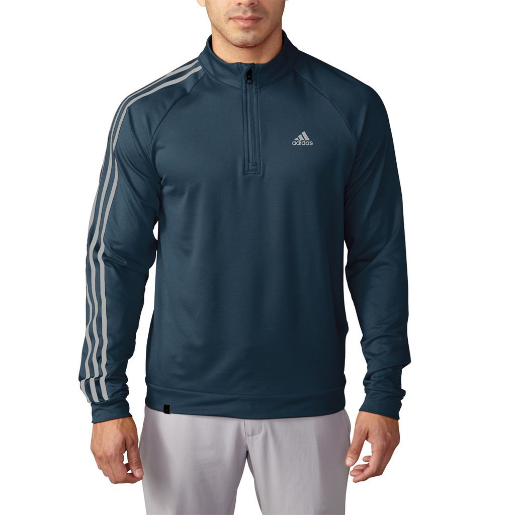 adidas golf 2016 3 streifen h lsen 1 4 zip pullover leichte herren golf sweater ebay. Black Bedroom Furniture Sets. Home Design Ideas