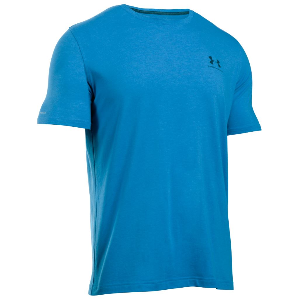 Under armour charged cotton sportstyle left chest logo for Under armour lifting shirts