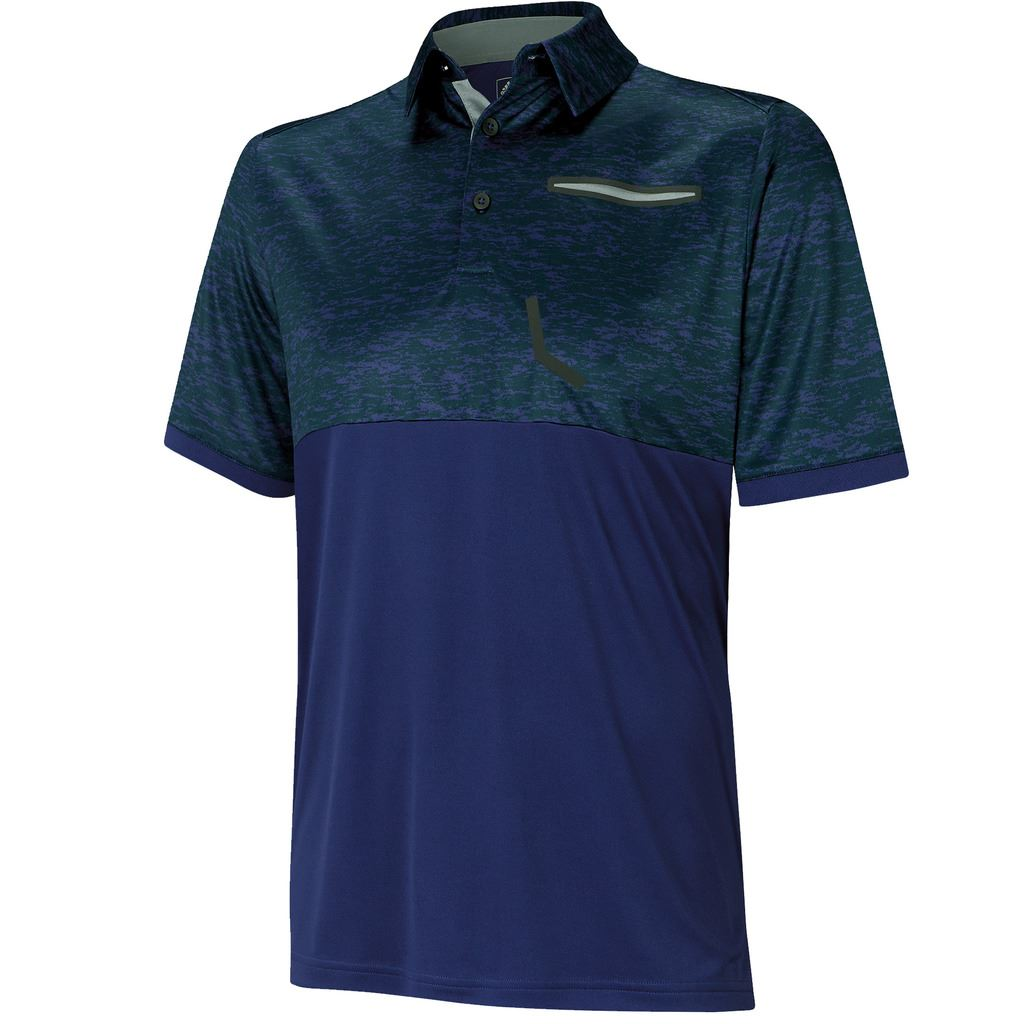 adidas golf 2016 climacool sport digital print performance mens golf polo shirt. Black Bedroom Furniture Sets. Home Design Ideas