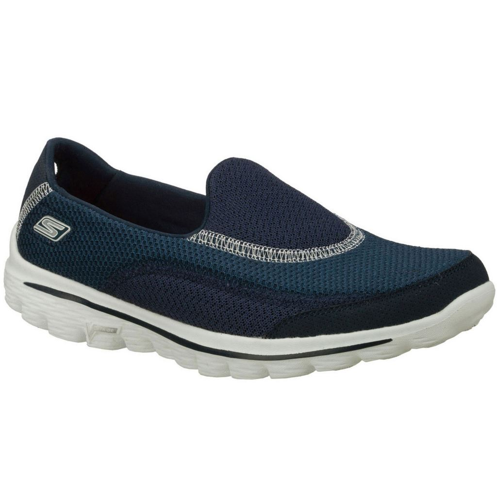 2016 ladies skechers go walk 2 slip on lightweight womens