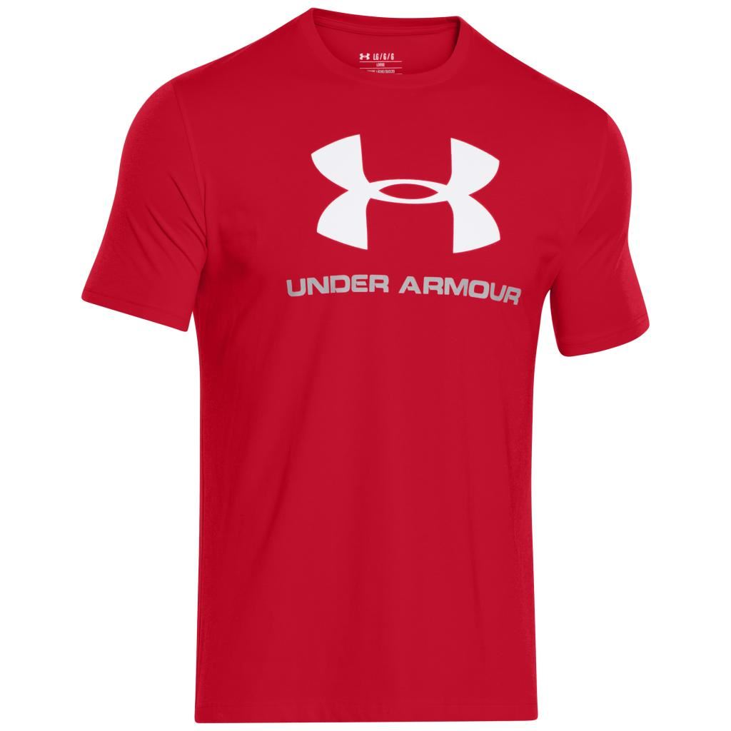 Tees Brand Name Under Armour Charged Cotton Tshirt Kaos Size S 2016 Mens Sportstyle Logo Tee
