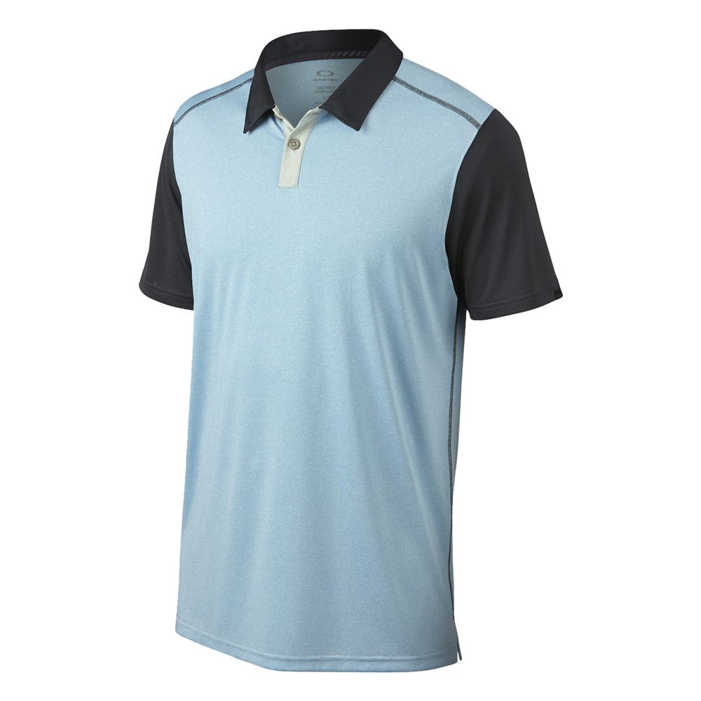 Oakley golf 2015 bennett hydrolix polo mens performance for Mens golf polo shirts