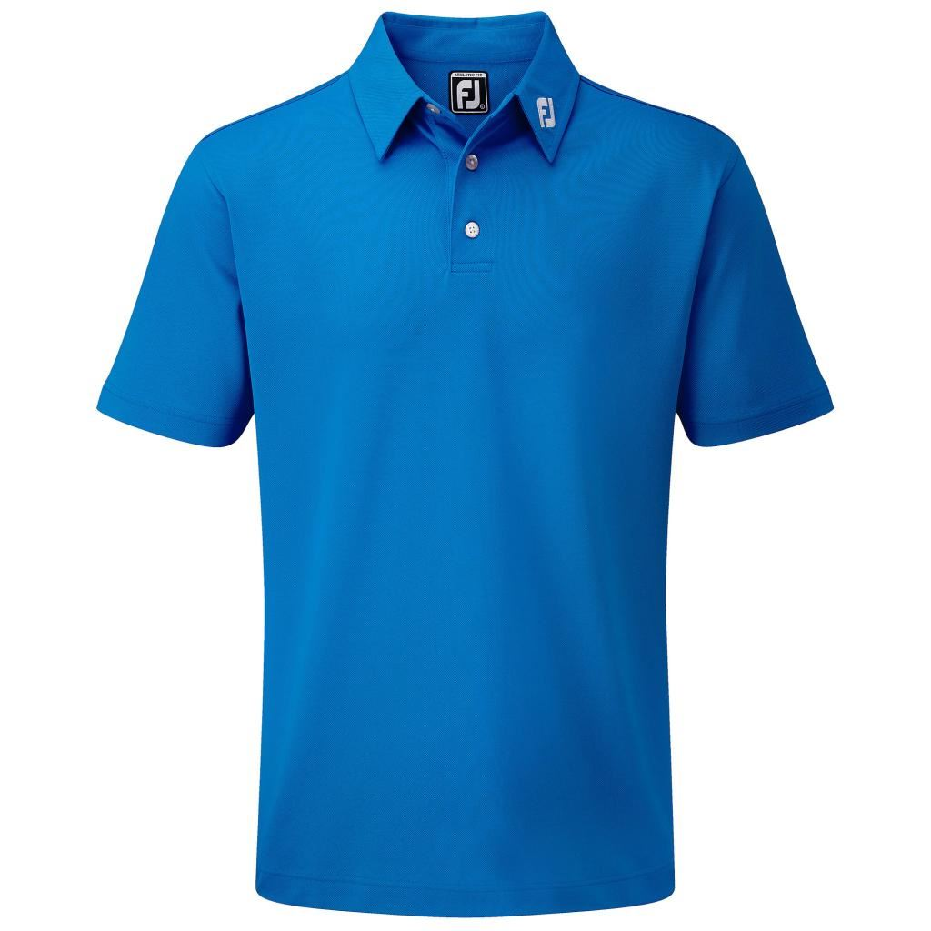 Footjoy 2015 stretch pique solid athletic fit mens golf for Men s athletic polo shirts