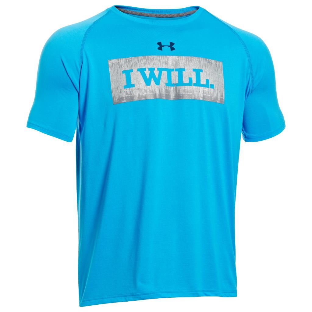 Sale under armour i will tech short sleeve mens t shirt for Under armour tee shirts sale