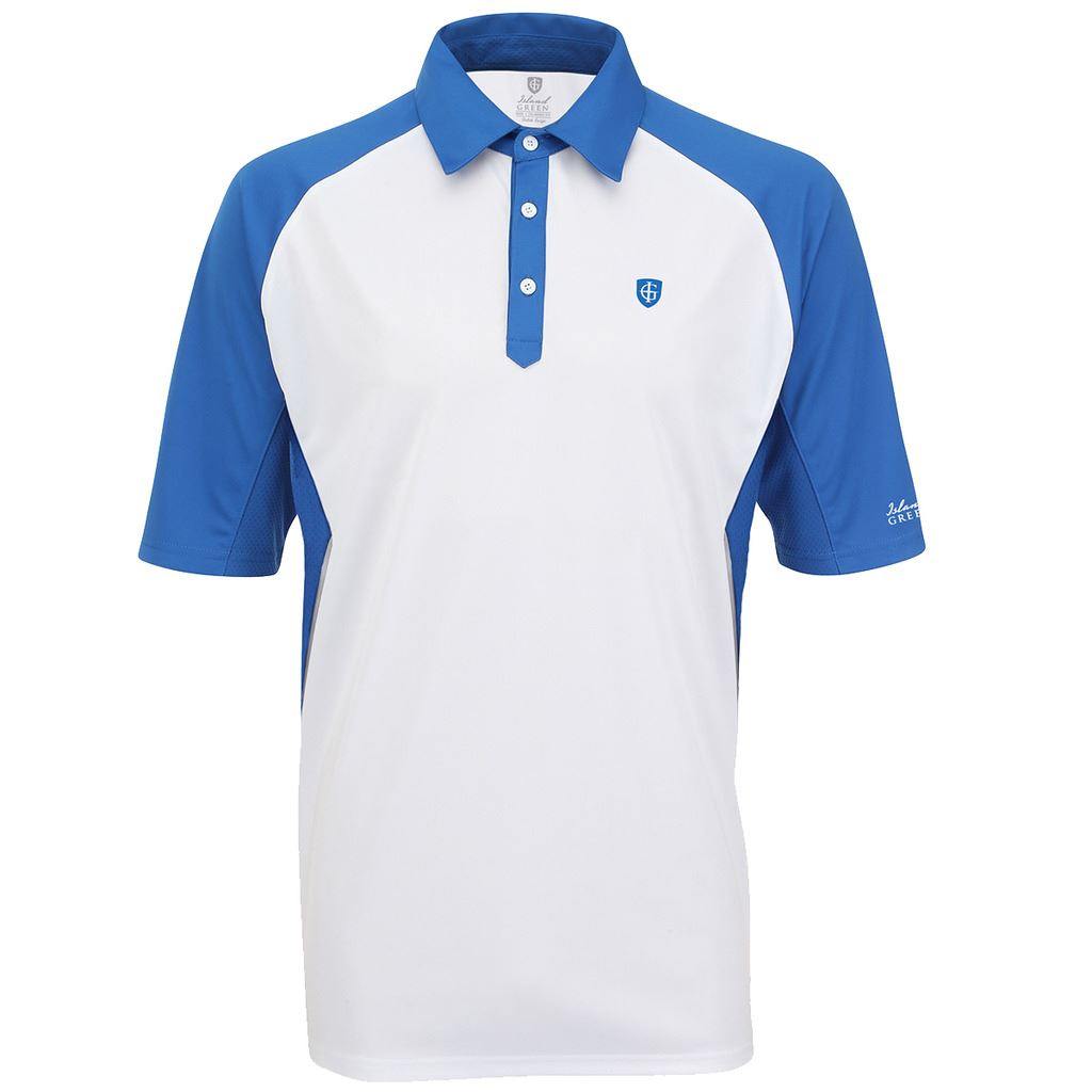 Island green 2016 logo chest performance cool pass mens for Cool mens polo shirts