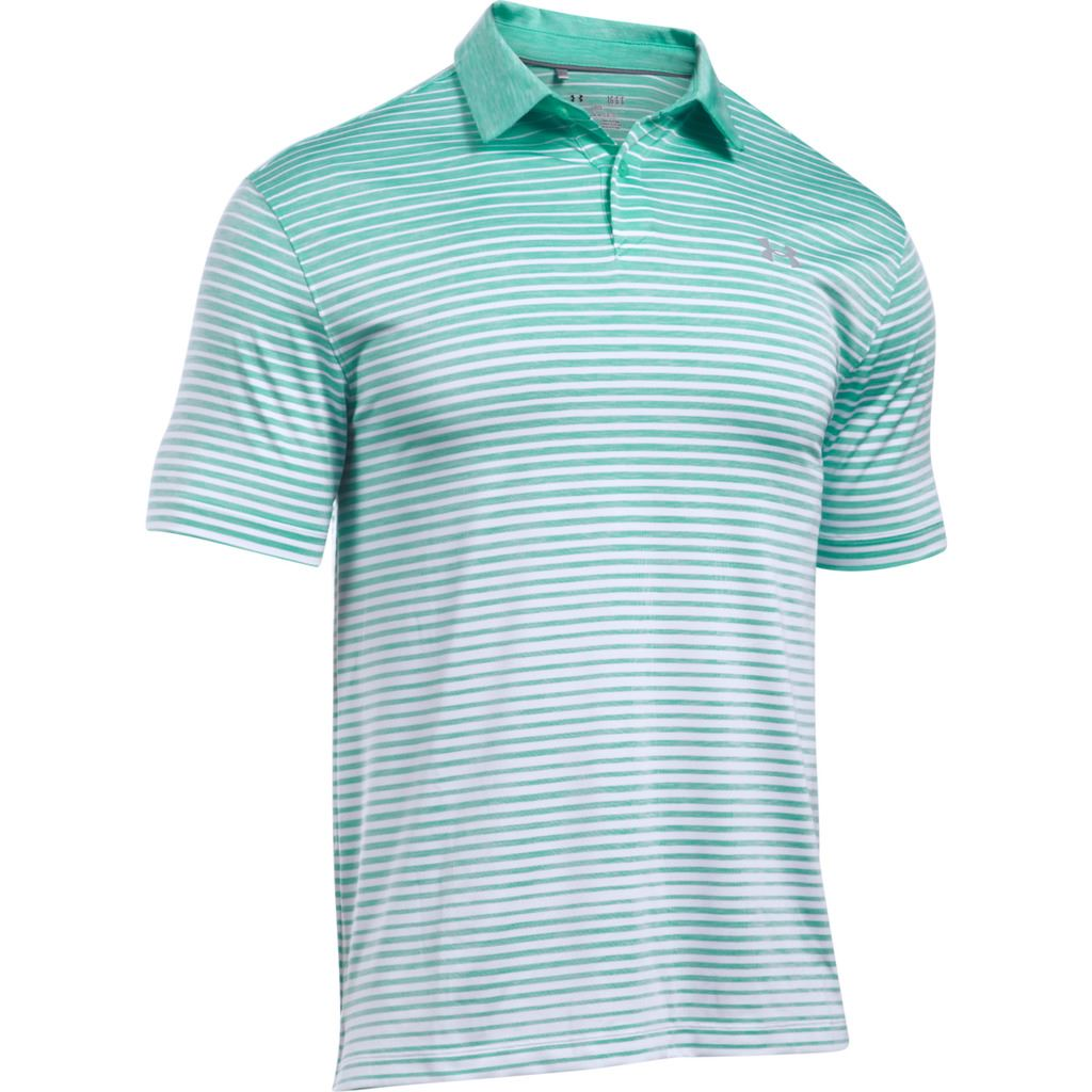 Under armour 2017 mens ua coolswitch trajectory stripe for Under armor polo shirts