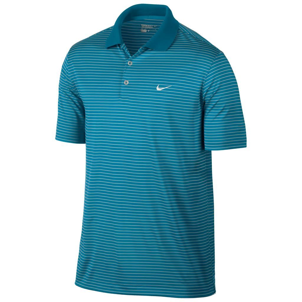 2015 Nike Victory Stripe Mens Golf Polo Shirt Logo Chest