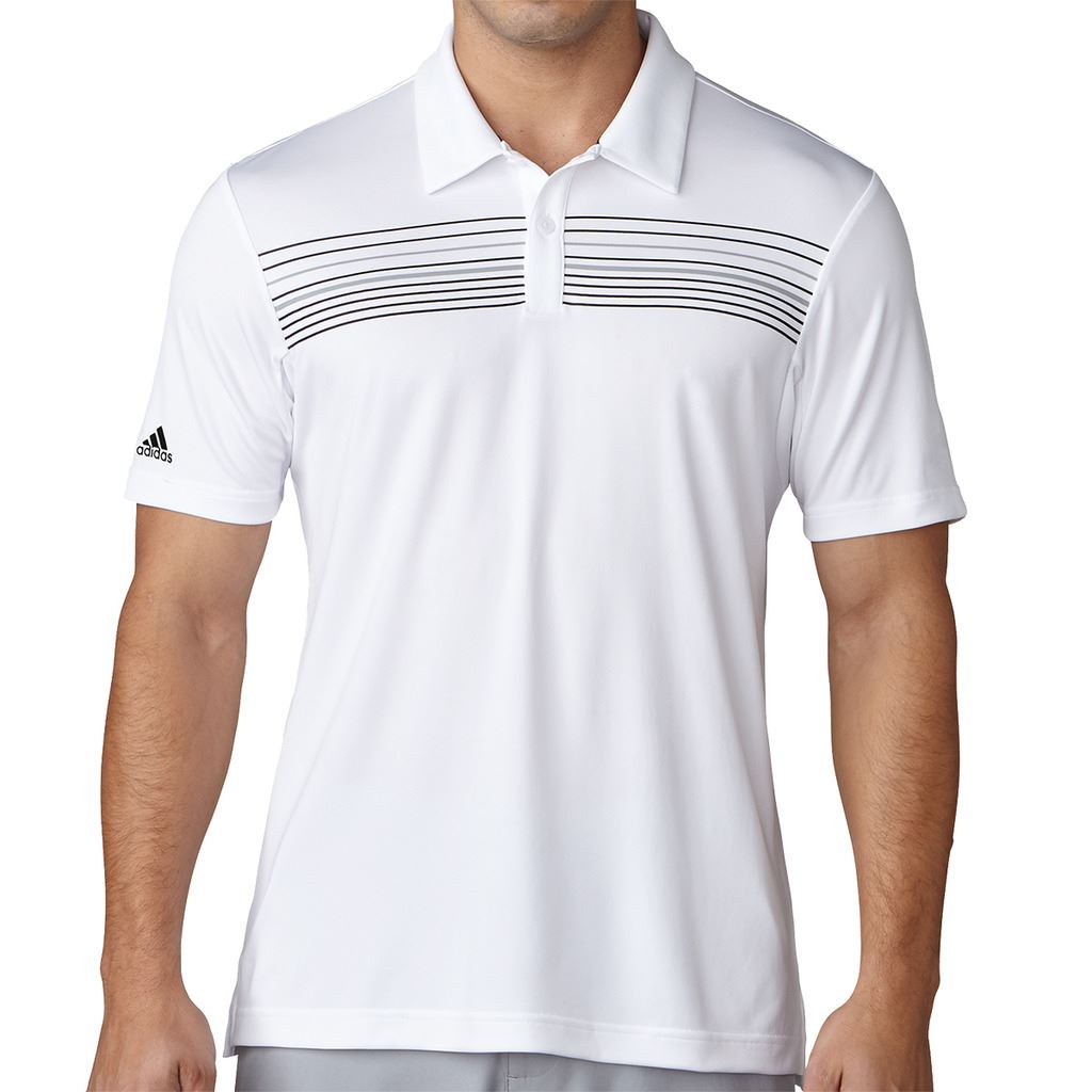 Adidas Golf 2017 Climacool Chest Print Polo Mens