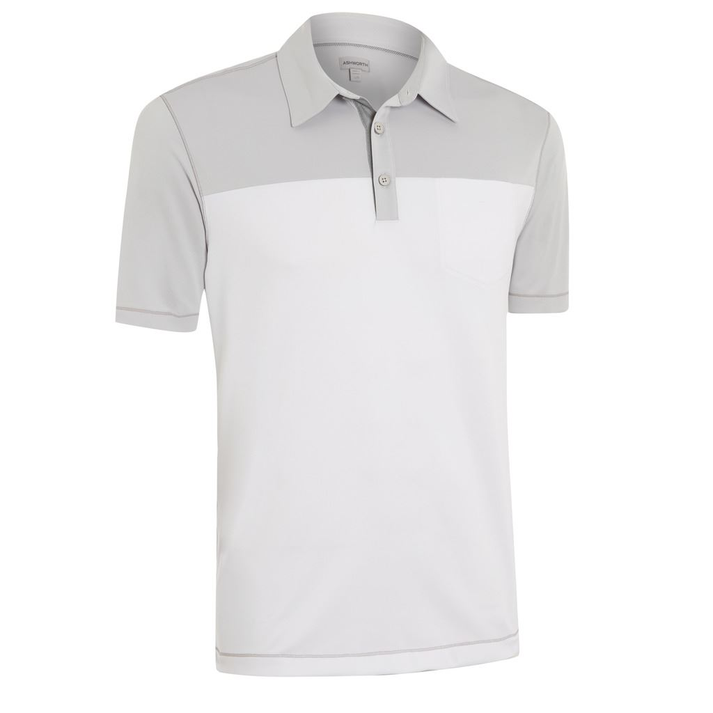 50 off ashworth performance double knit chest pocket mens for Men s polo shirts with chest pocket