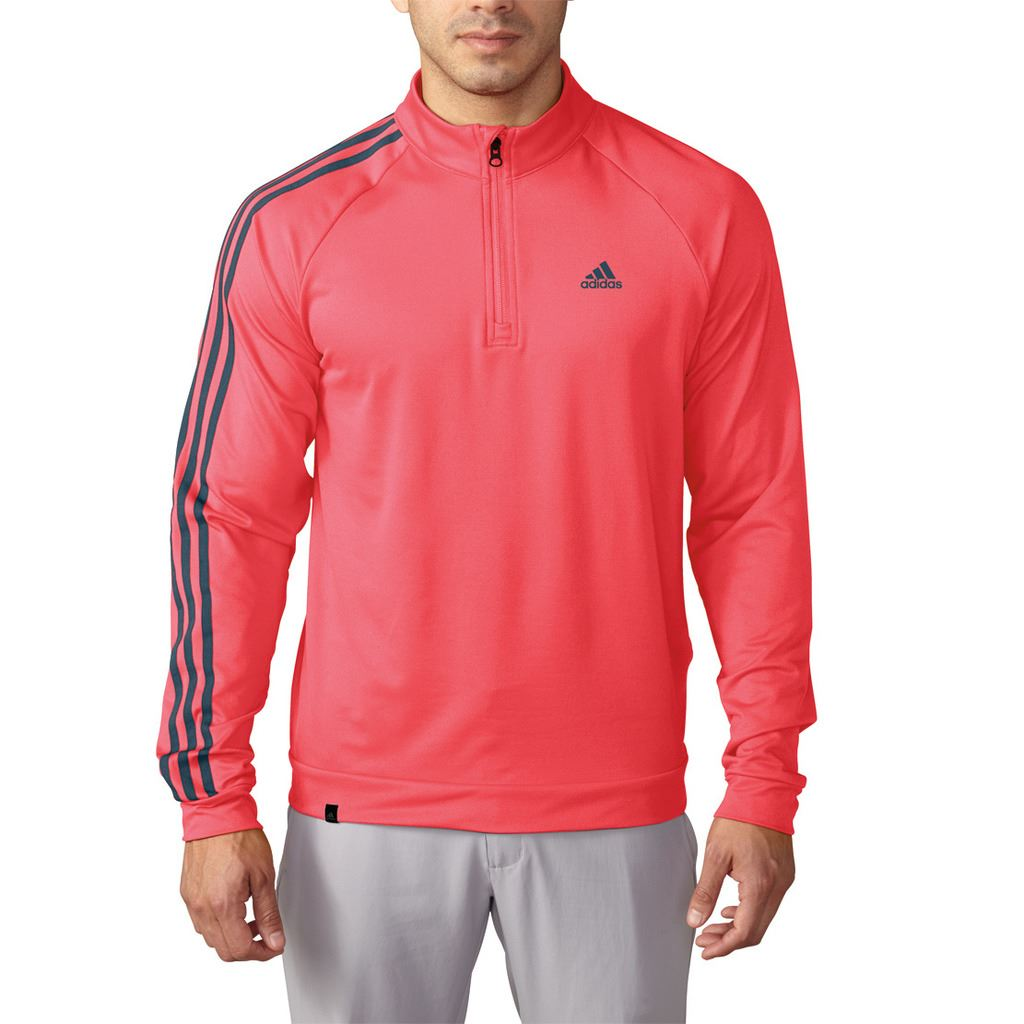 adidas golf 2016 3 stripes sleeve 1 4 zip pullover. Black Bedroom Furniture Sets. Home Design Ideas