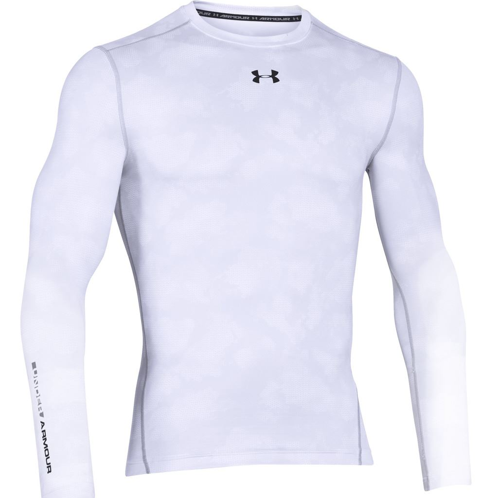 Under armour 2016 mens coldgear printed compression crew for Under armour cold gear shirt mens