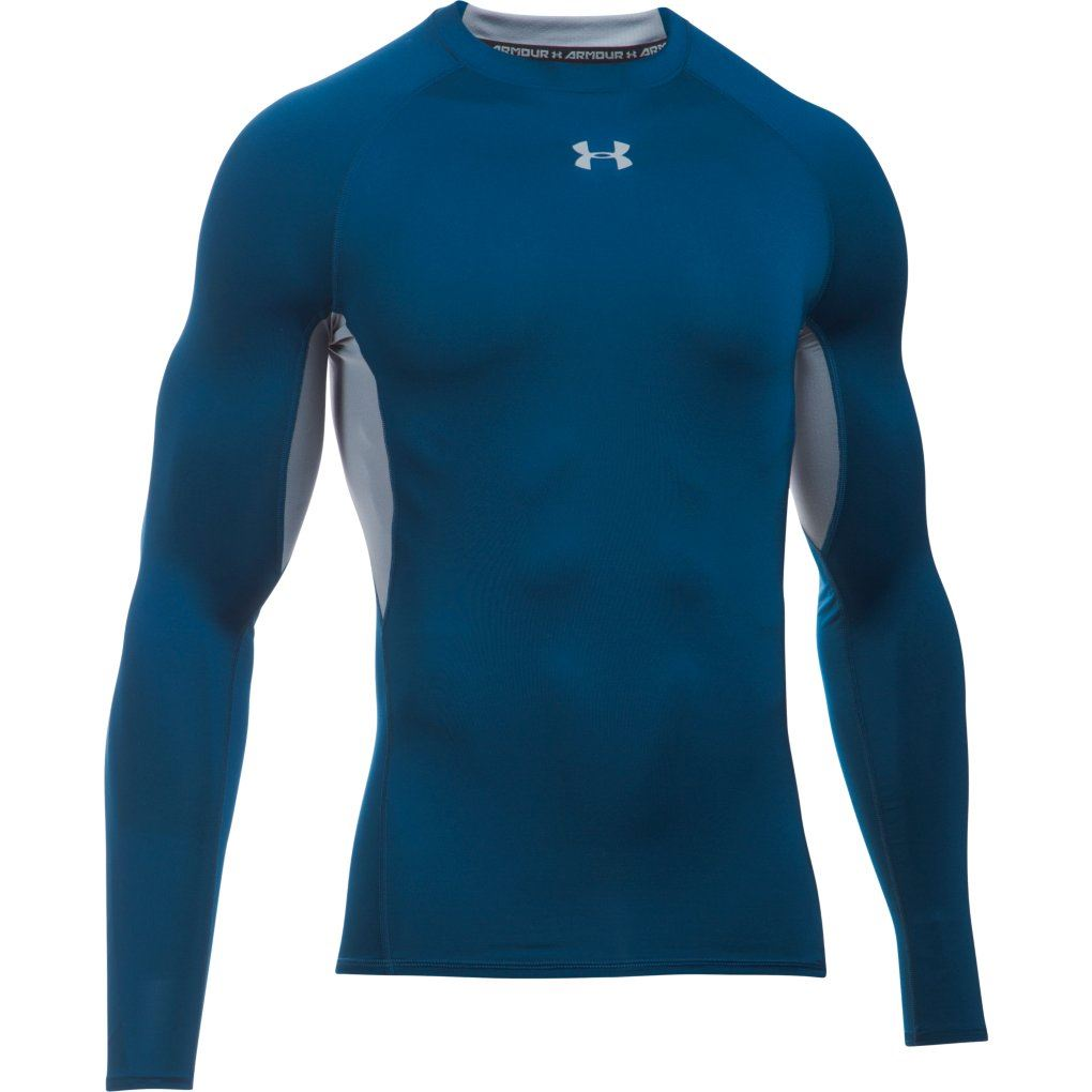 2017 under armour mens heatgear compression shirt for Under armour heatgear white shirt