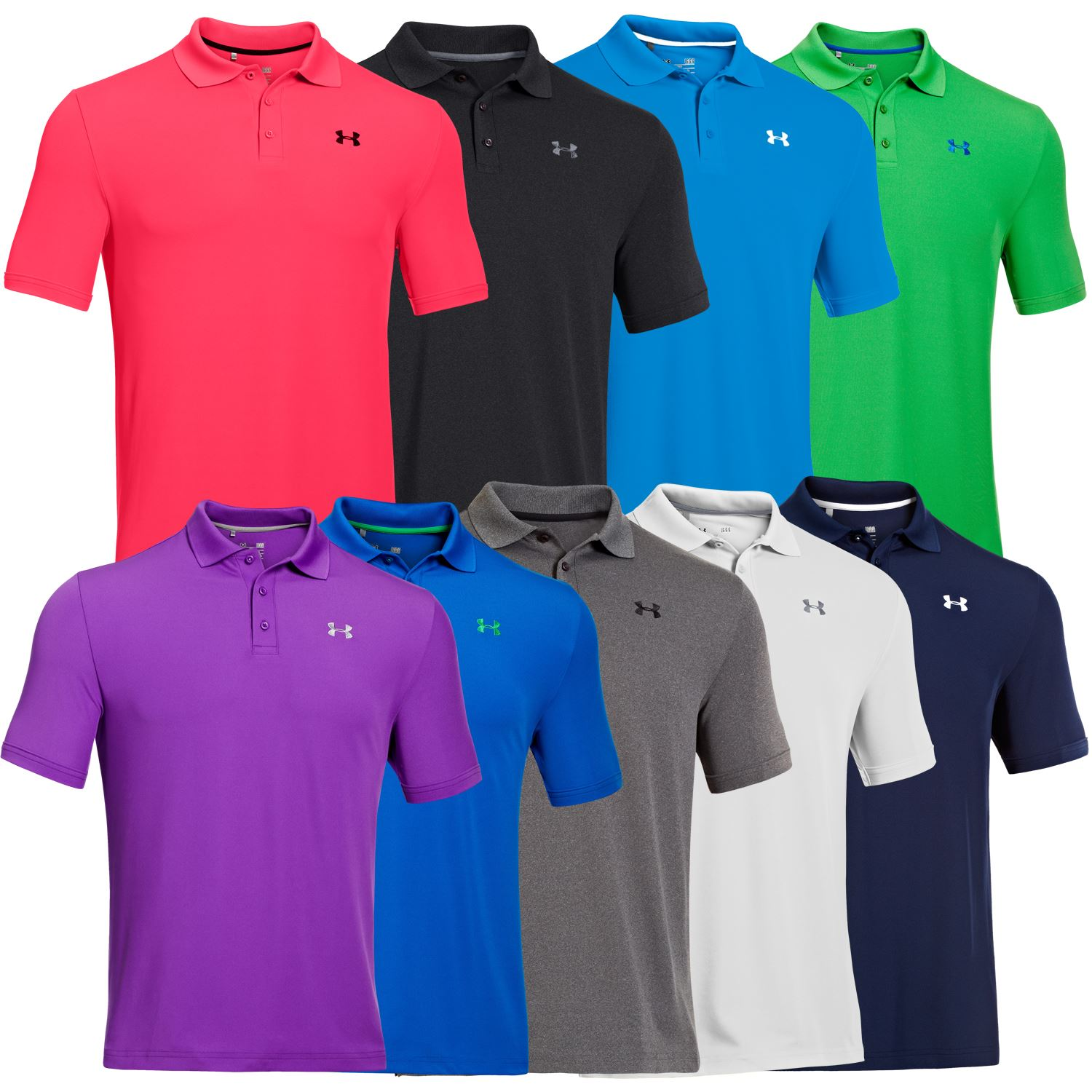 2015 under armour mens heatgear performance 2 0 golf polo for Mens under armour shirts