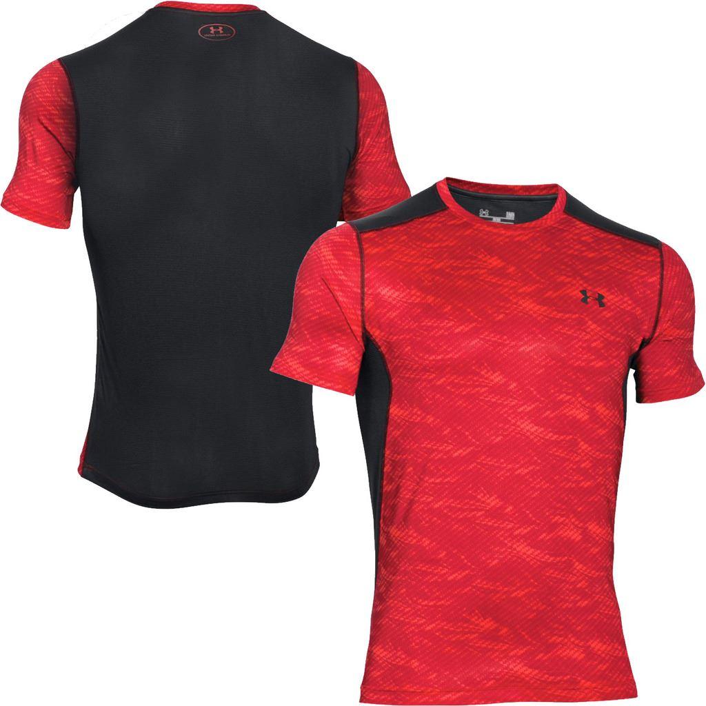 Under armour 2016 mens heatgear raid short sleeve training for Under armour half sleeve shirt