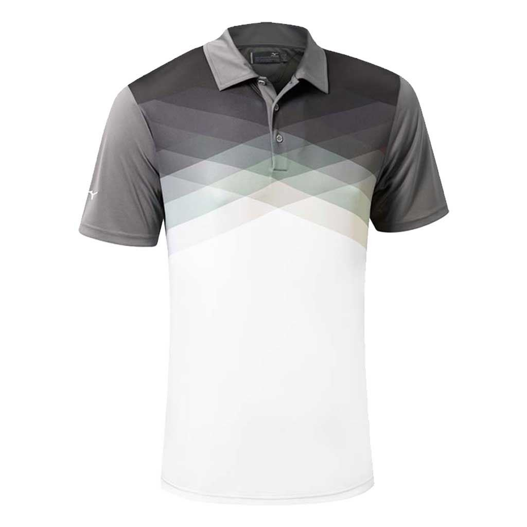 Mizuno golf 2016 x tint argyle drylite performance mens for Mens golf polo shirts