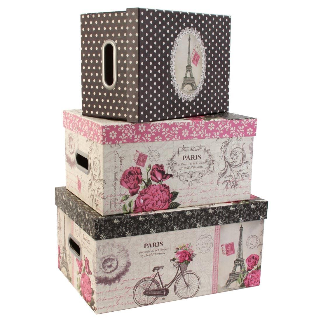 Decorative Hat Boxes Uk : Tri coastal design set of nesting storage box steamer