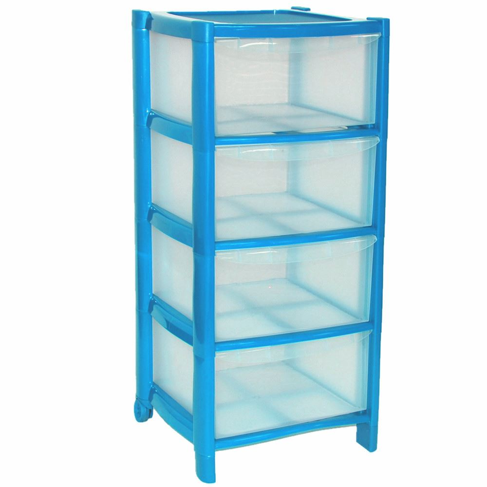 4-Drawer-Plastic-Large-Tower-Storage-Drawers-Chest-  sc 1 st  eBay & 4 Drawer Plastic Large Tower Storage Drawers Chest Organiser Unit ...