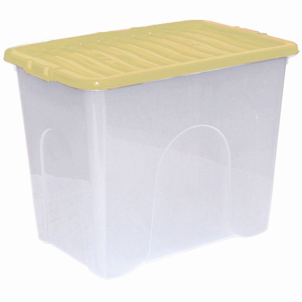 Large clear storage boxes