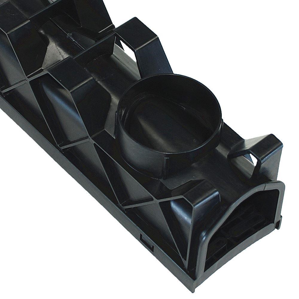 Drain channel quad box end cap outlet drainage plastic