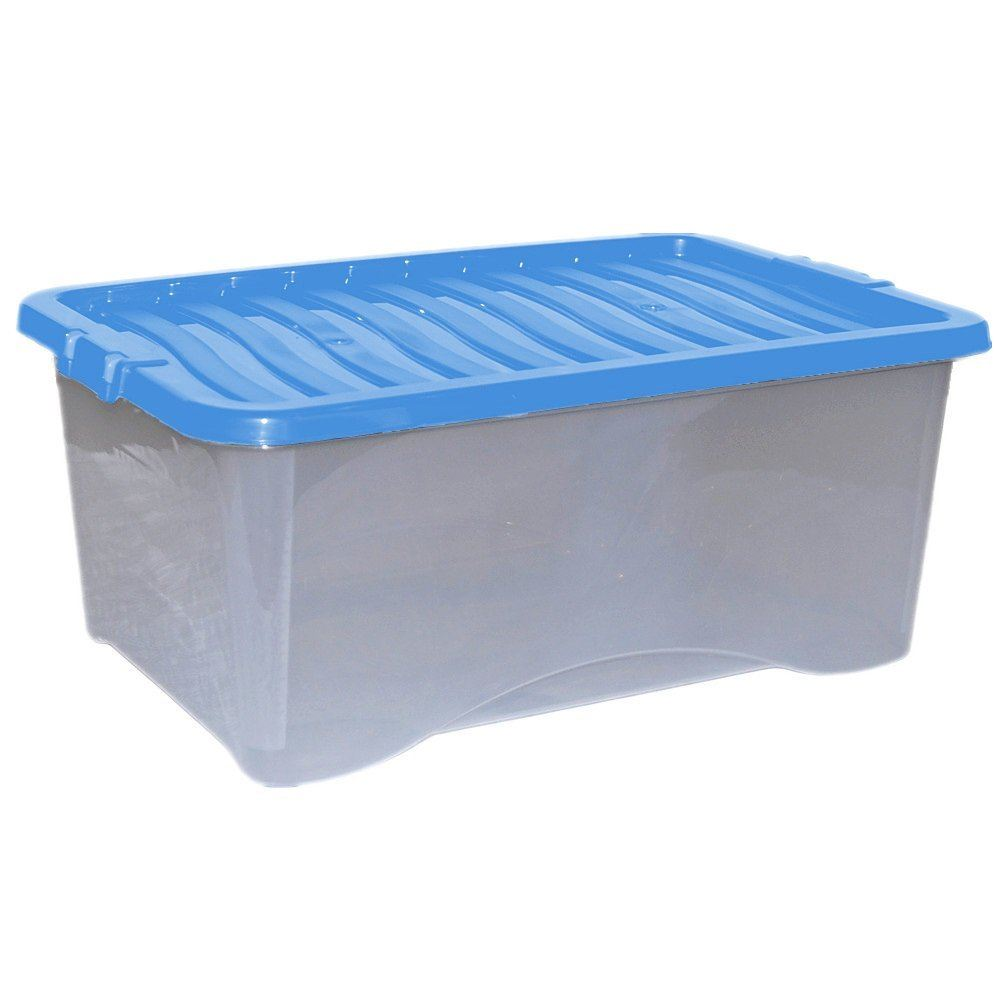 5x 45l plastic storage box strong stackable container with for How strong is acrylic glass