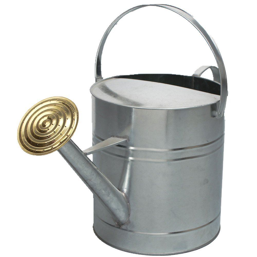 Garden plant colour galvanised metal steel watering can 9 litre with brass rose ebay - Sprinkling cans ...