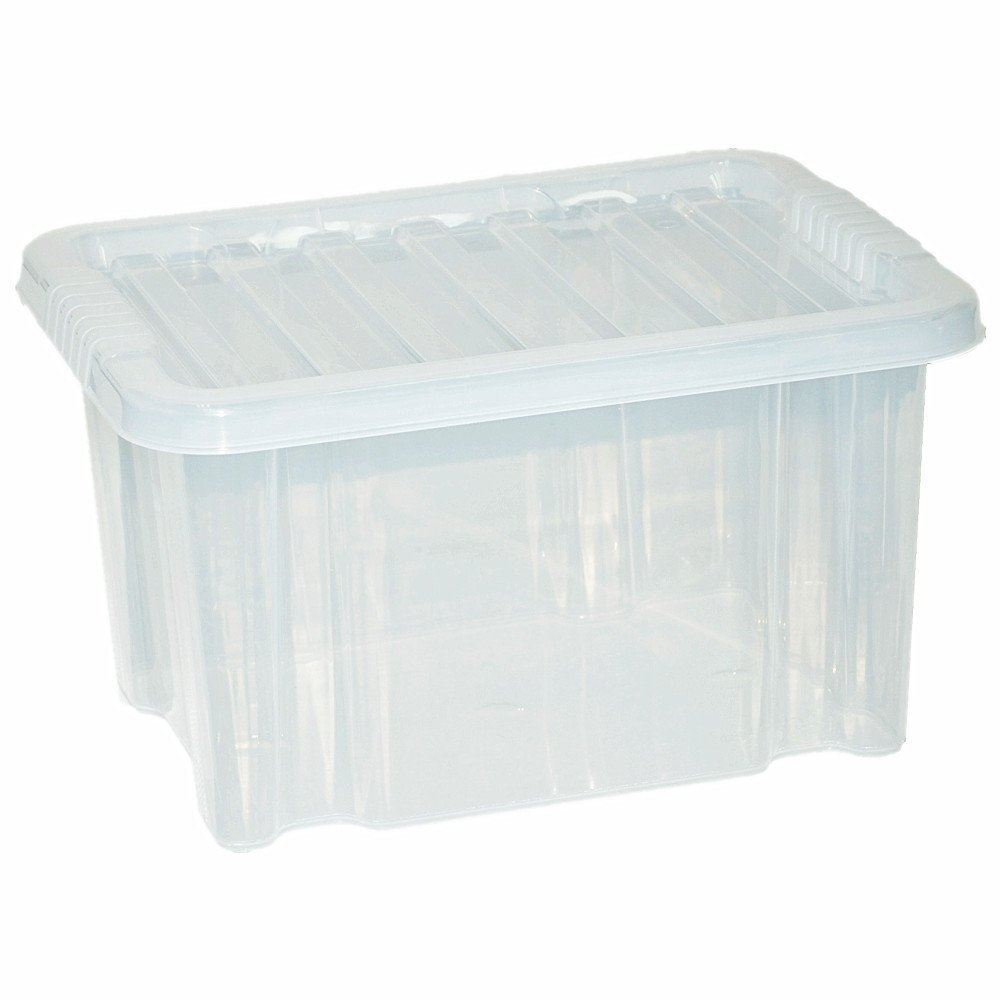 24 litre plastic storage clear box organiser strong for How strong is acrylic glass