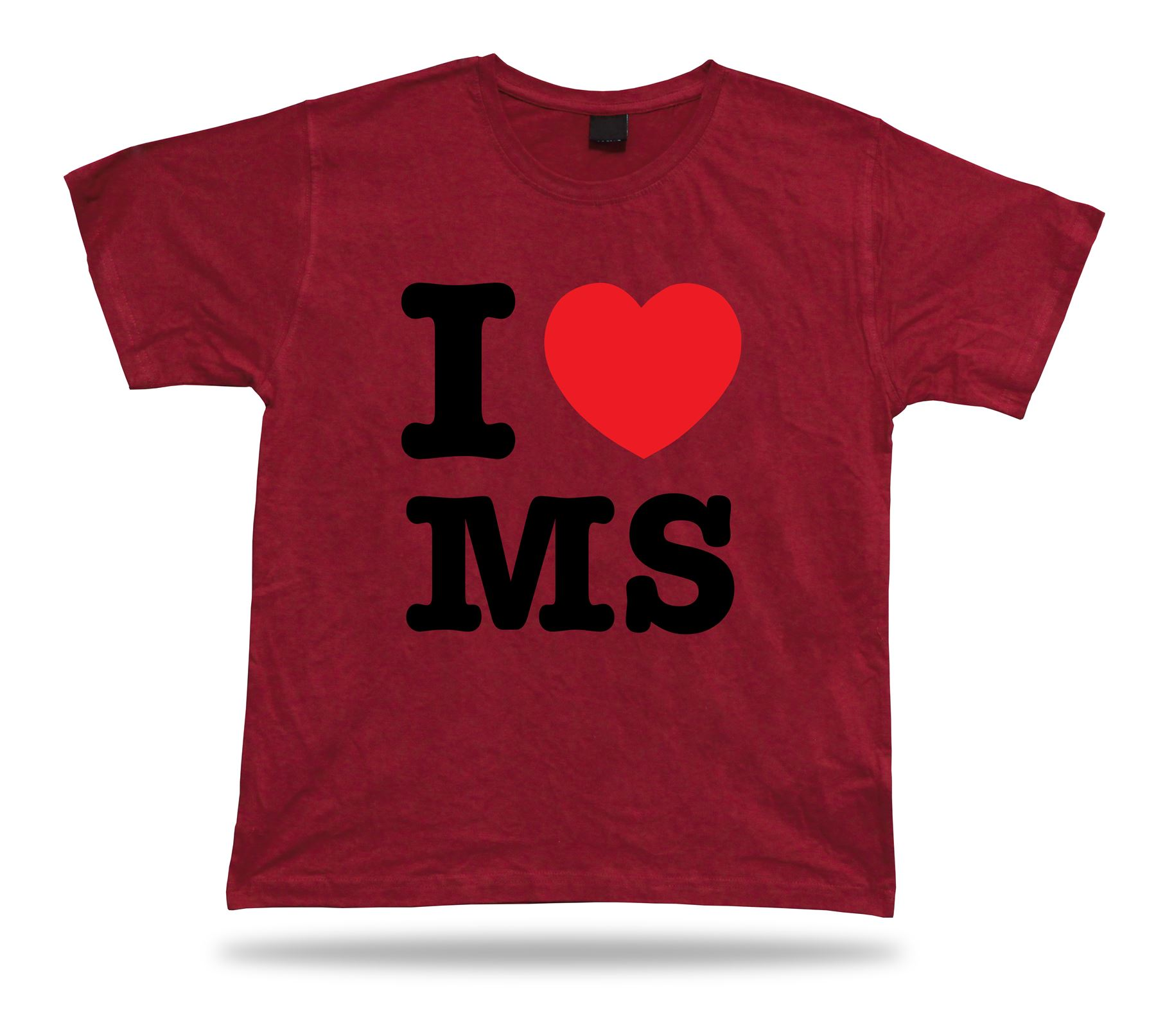 I Love Ms Mississippi T Shirt Heart River Jackson Magnolia