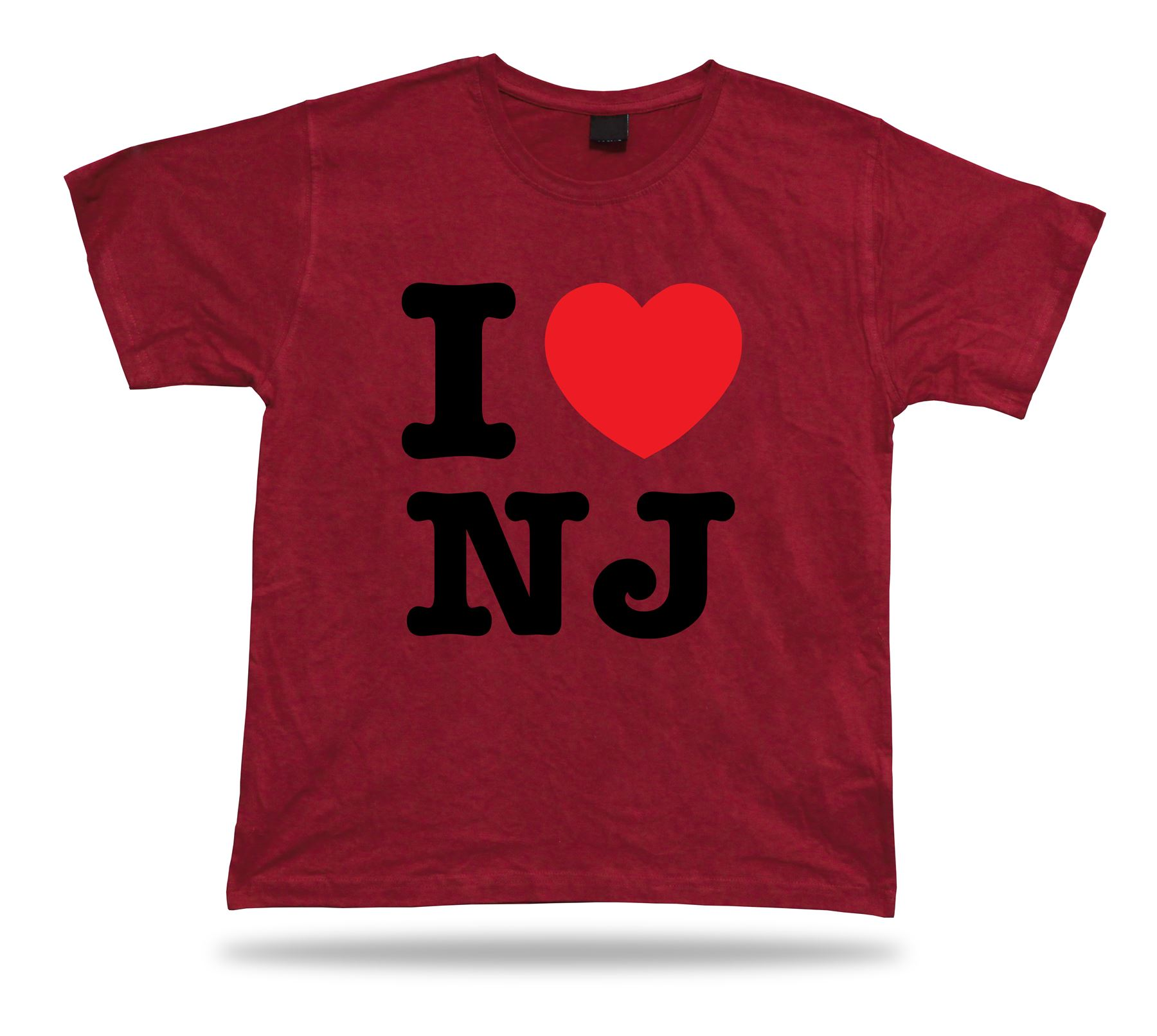 I love nj new jersey t shirt heart garden newark devil for The garden design team newark