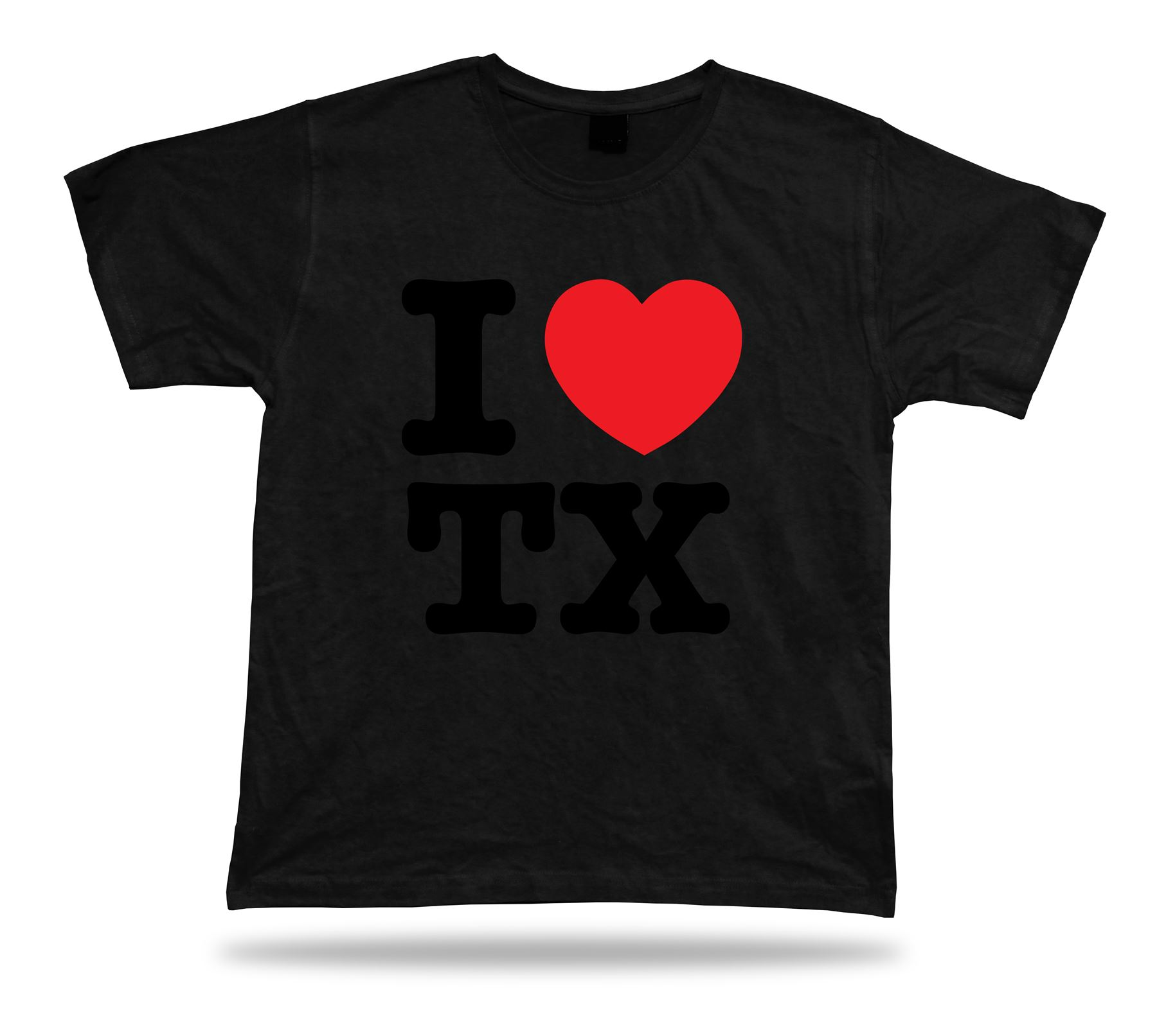I love tx texas t shirt heart lone star dallas huston spur for Wholesale t shirts dallas tx