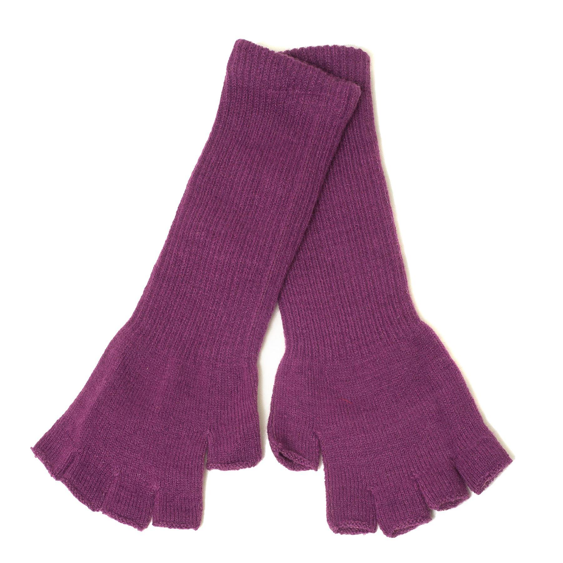 Plain Gloves Knitting Pattern : Plain Unisex Long Fingerless Gloves eBay
