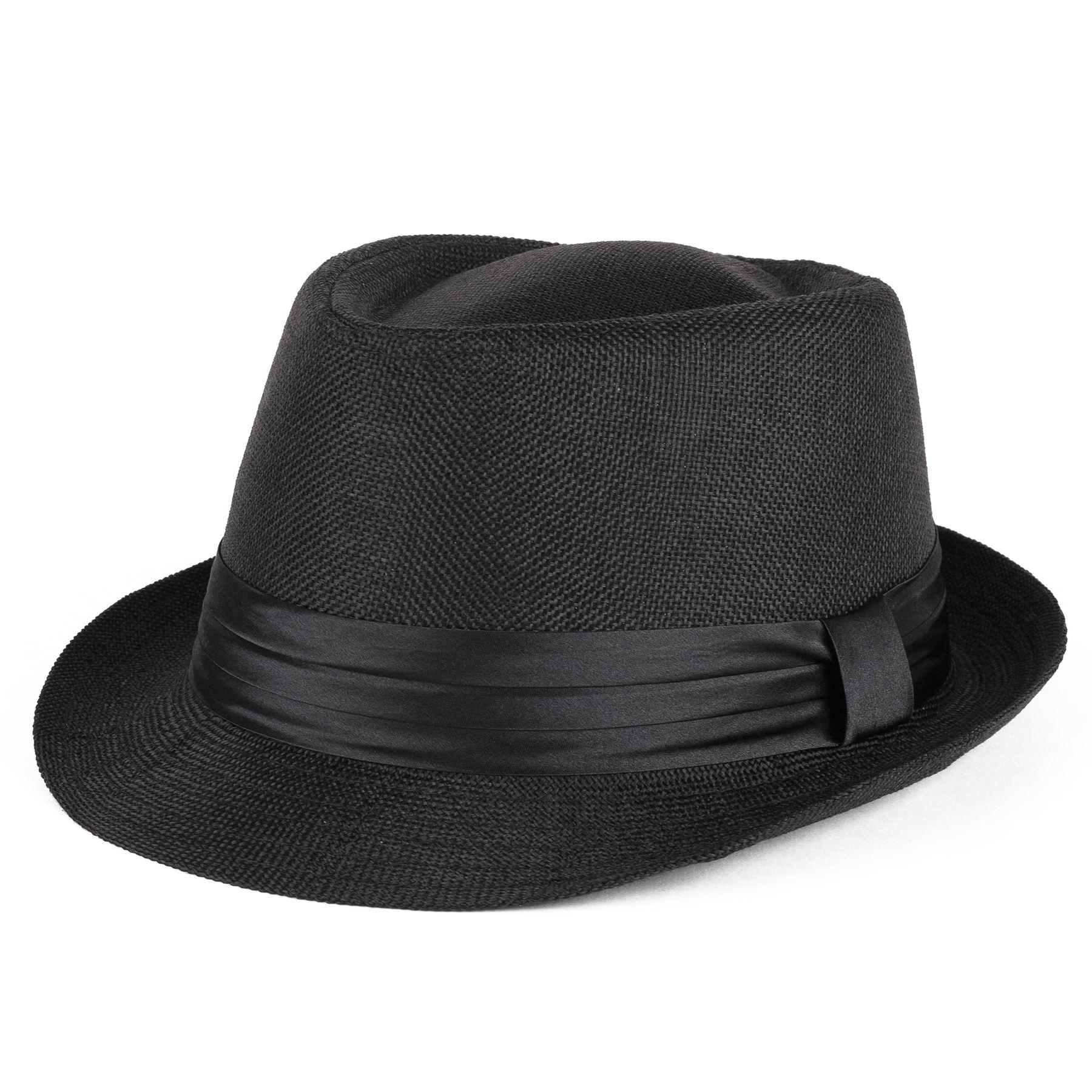trilby hat with satin black band ebay