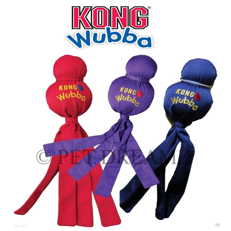 Kong Ballistic Tug Dog Toy: KONG WUBBA PUPPY DOG TOY SQUEAKY TUG THROW FETCH LARGE