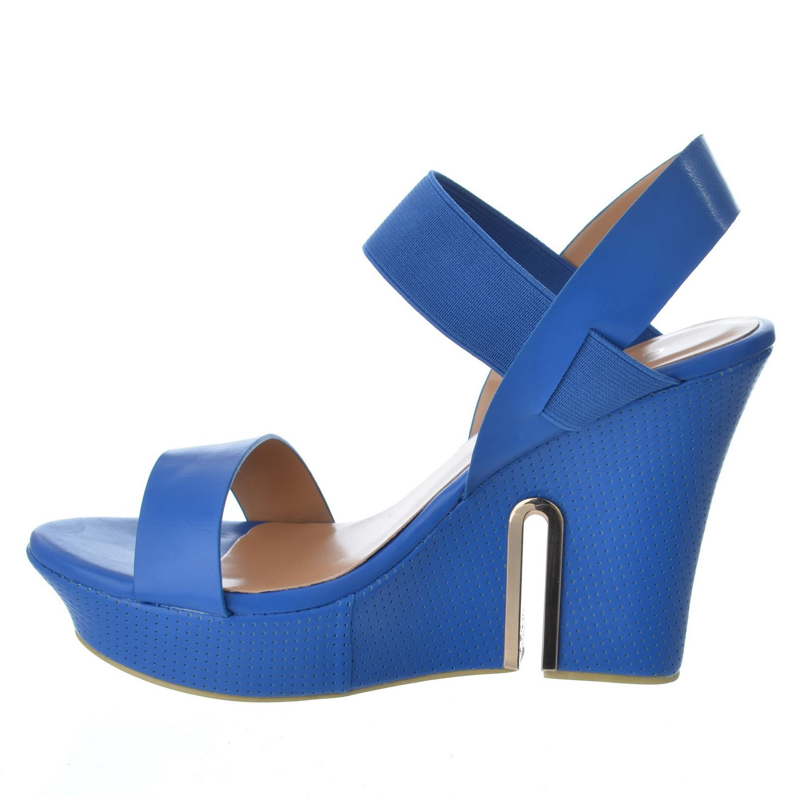 womens high wedge heel cut out platform ankle