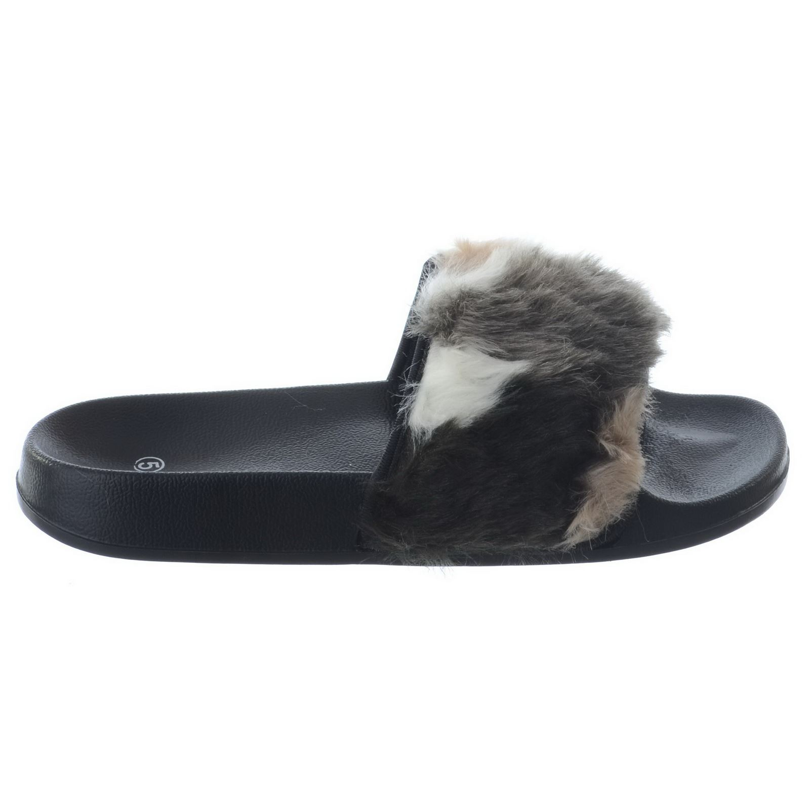 Cool Black Bottom Nike Faux Fur Slides Custom
