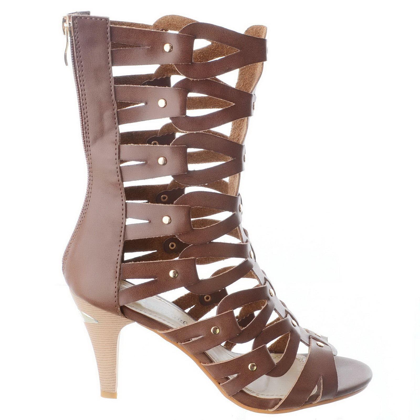 Gladiator Mid Heel Shoes