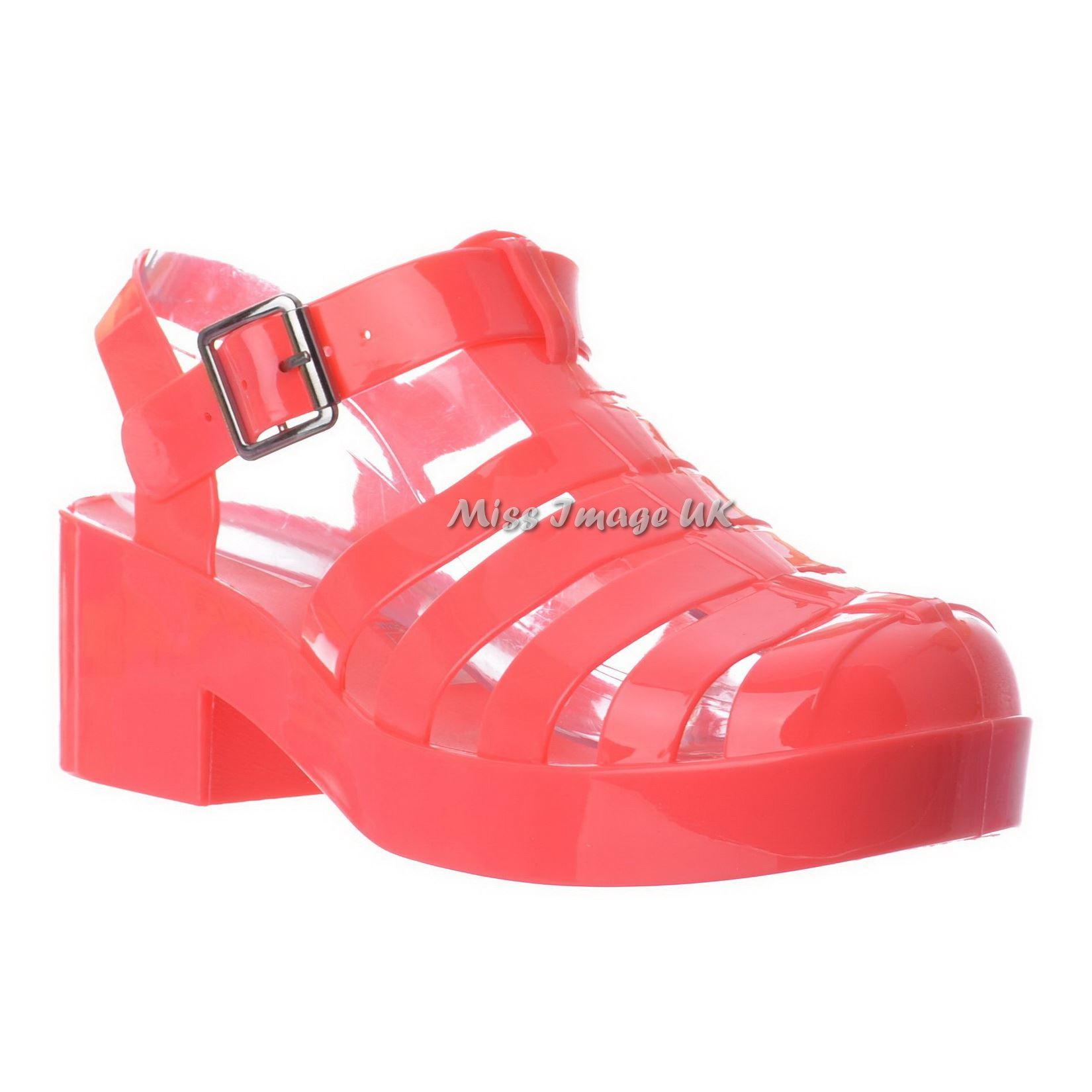 womens retro chunky block heel gladiator platform