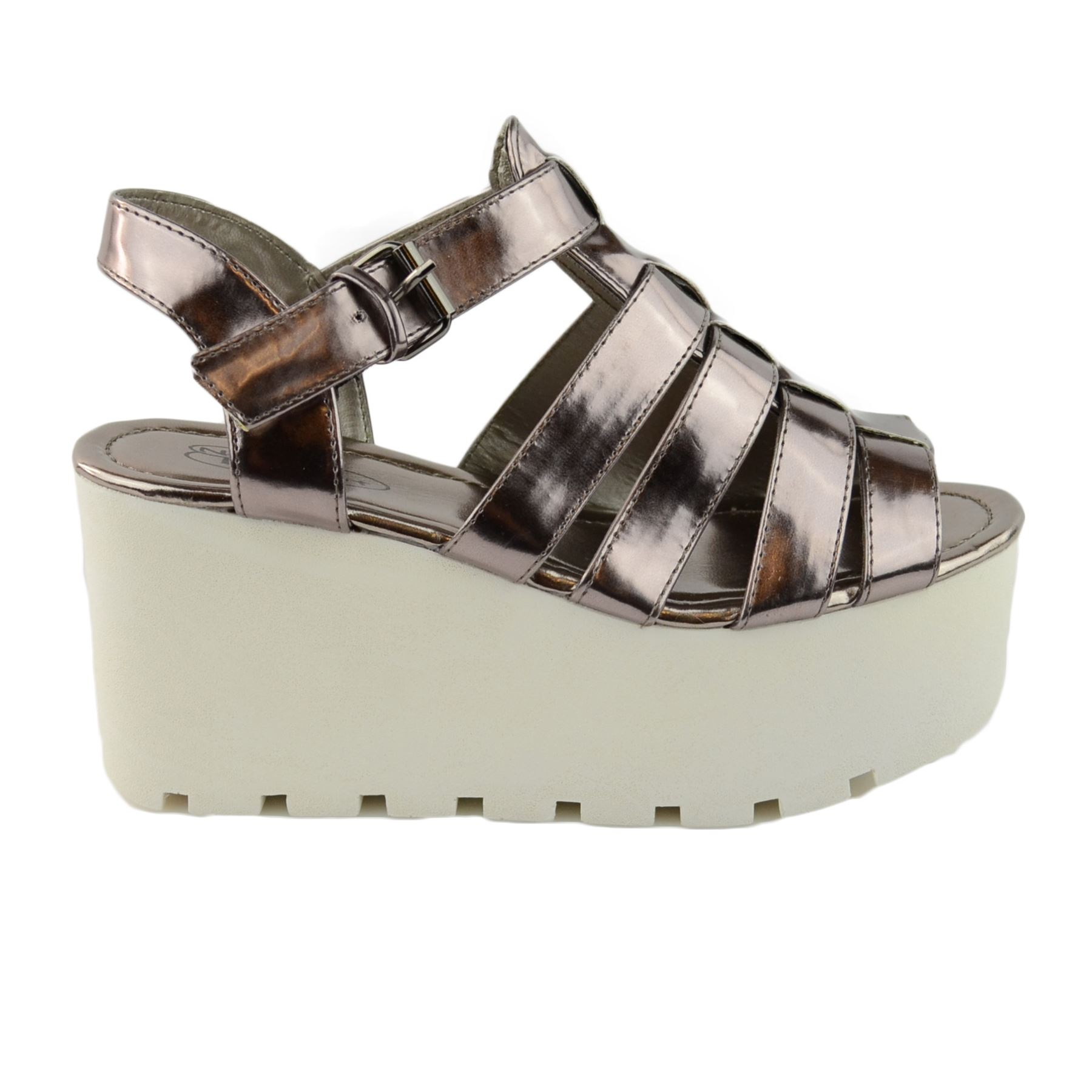 womens chunky sole gladiator summer wedges platform